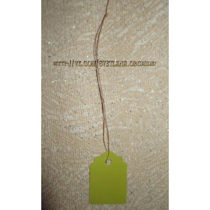 Бирка пластиковая подвесная арт. А8